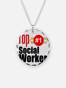 Top Social Worker  Necklace