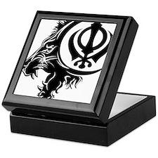 Singh Sikh Symbol 1 Keepsake Box