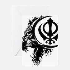 Singh Sikh Symbol 1 Greeting Card