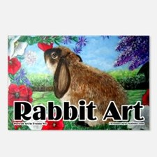 cover rabbit art Postcards (Package of 8)