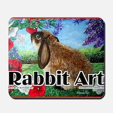 cover rabbit art Mousepad