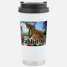 cover rabbit art Stainless Steel Travel Mug