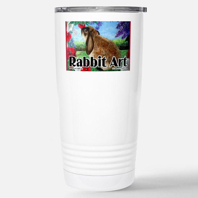 cover rabbit art Stainless Steel Travel Mug