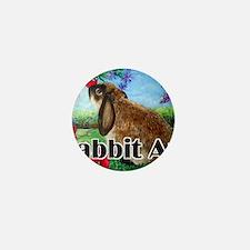cover rabbit art Mini Button