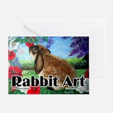 cover rabbit art Greeting Card