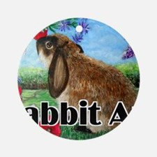 cover rabbit art Round Ornament