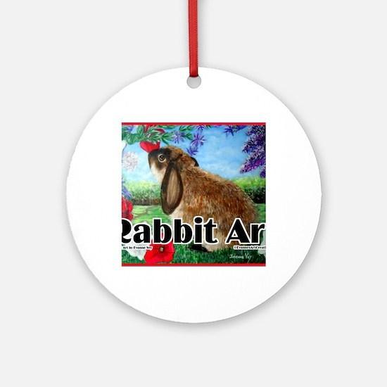cover rabbit art Round Ornament