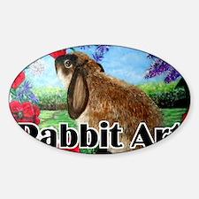cover rabbit art Sticker (Oval)