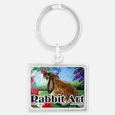 cover rabbit art Landscape Keychain