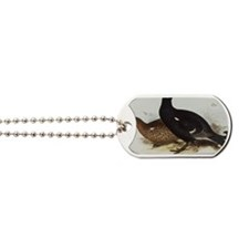 Black Grouse Painting Dog Tags