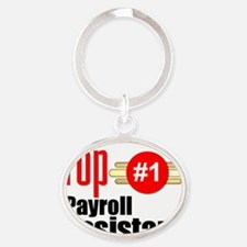 Top Payroll Assistant  Oval Keychain