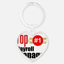 Top Payroll Manager  Heart Keychain