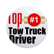Top Tow Truck Driver  Round Ornament