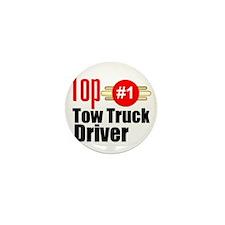 Top Tow Truck Driver  Mini Button