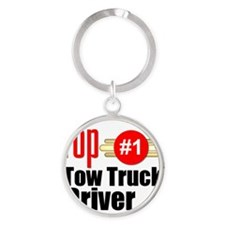 Top Tow Truck Driver  Round Keychain