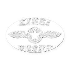 KIHEI ROCKS Oval Car Magnet