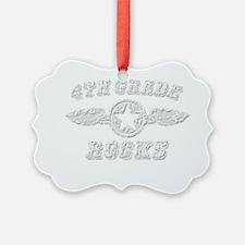 4TH GRADE ROCKS Ornament