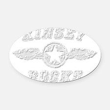 KINSEY ROCKS Oval Car Magnet