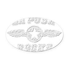 LA PUSH ROCKS Oval Car Magnet