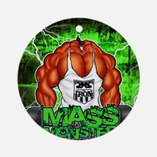 MUSCLEHEDZ - MASS MONSTER! Round Ornament