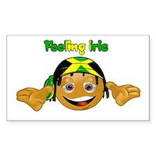 Feeling Irie Rectangle Decal
