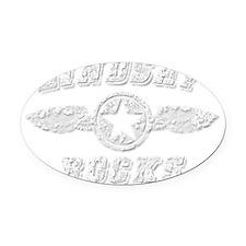 LINDSAY ROCKS Oval Car Magnet