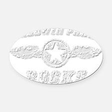 BALDWIN PARK ROCKS Oval Car Magnet