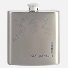 Marrakech geocode map (Blue) Flask