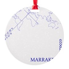 Marrakech geocode map (Blue) Ornament