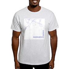 Marrakech geocode map (Blue) T-Shirt
