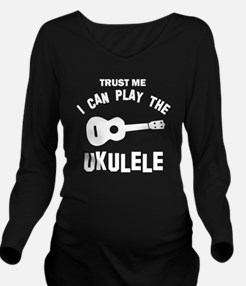 Cool Ukulele designs Long Sleeve Maternity T-Shirt