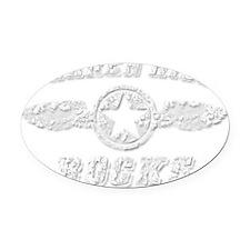 BARREN HILL ROCKS Oval Car Magnet