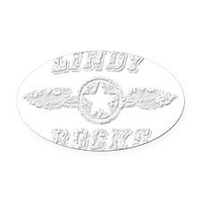 LINDY ROCKS Oval Car Magnet