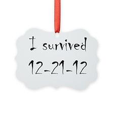 I Survived Ornament