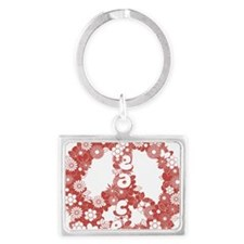 Peace_red Landscape Keychain