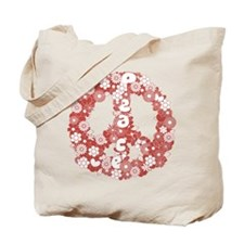 Peace_red Tote Bag