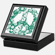 Peace_green2 Keepsake Box