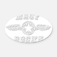 MACY ROCKS Oval Car Magnet