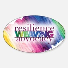 2013 Social Work Month Poster Image Sticker (Oval)