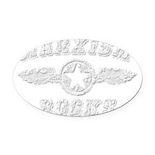 MARXISM ROCKS Oval Car Magnet