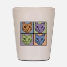 Hubie the cat for Karen Shot Glass