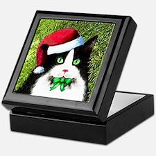 Black and White Tuxedo Cat Keepsake Box