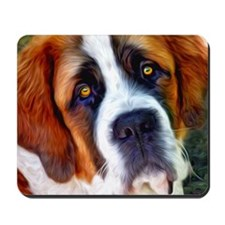 St Bernard Dog Photo Painting Mousepad