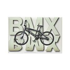 BMX Graphite Bikes Graphic Design Rectangle Magnet