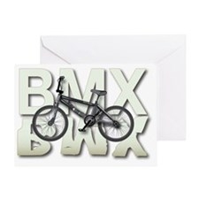 BMX Graphite Bikes Graphic Designs Greeting Card