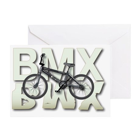 BMX Graphite Bikes Graphic Designs Greeting Card