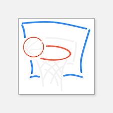"""Neon Basketball Square Sticker 3"""" x 3"""""""