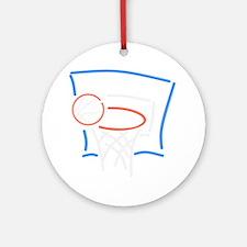 Neon Basketball Round Ornament