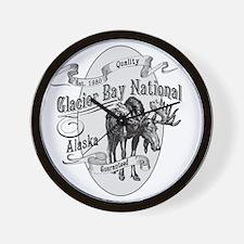 Glacier Bay Vintage Moose Wall Clock