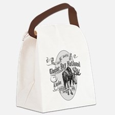 Glacier Bay Vintage Moose Canvas Lunch Bag